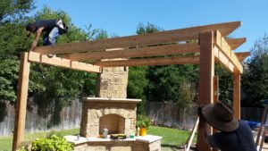 pergola_fireplace_build